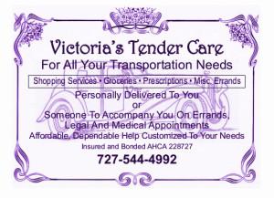 Victorias Tender Care postcard